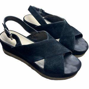MARC FISHER Gandy Suede Platform Sandals Size 8.5
